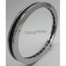 45ab4b990b32 Pulsera Acero Rígida con Caucho – Comprar pendientes