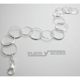 Pulsera Plata Eslabón Redondo