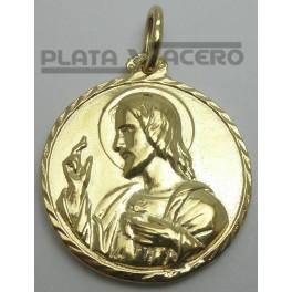 Medalla Escapulario Chapada en Oro