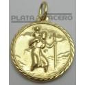 Medalla San Cristobal Chapada en Oro