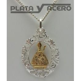 Medalla San Fermín Plata y Chapado Oro