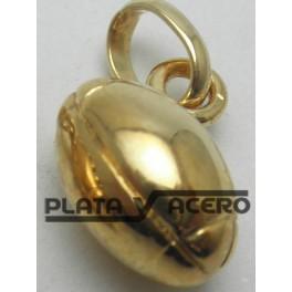 Colgante Balón Rugby Chapado en Oro