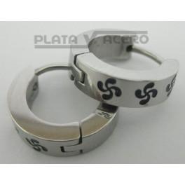 Grey Hoop S.Steel Lauburu Earrings
